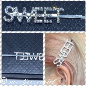 Sweet Spellout Trendy Fashion Sparkling Hairpin